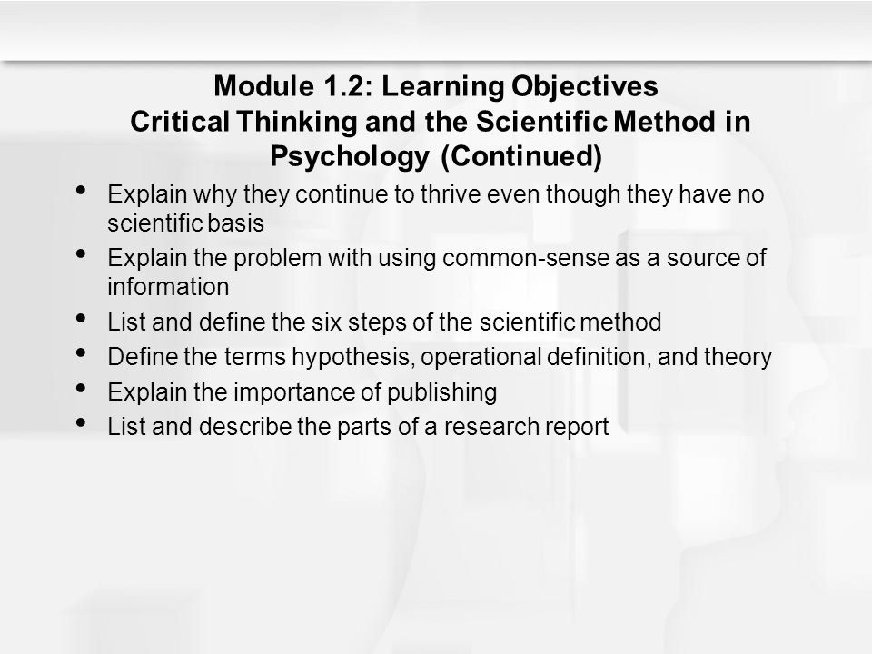 Developing critical thinking skills: research