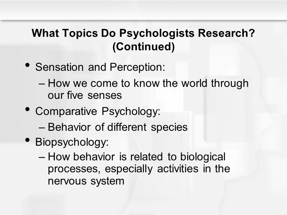 How psychologist study sensation