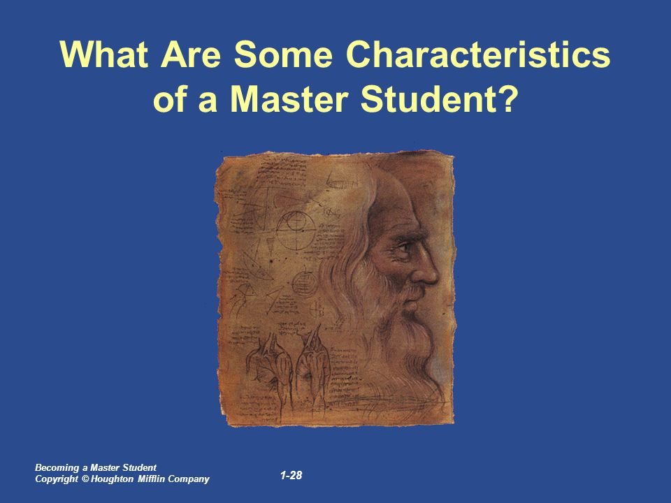 characteristics of a master student Master online learning  the online student  clearly outline your expectations and the necessary characteristics of a successful online student so.