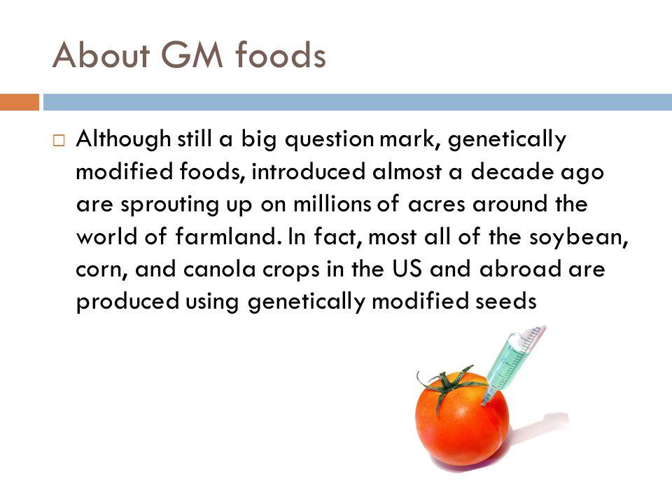 advantages of gm foods pdf