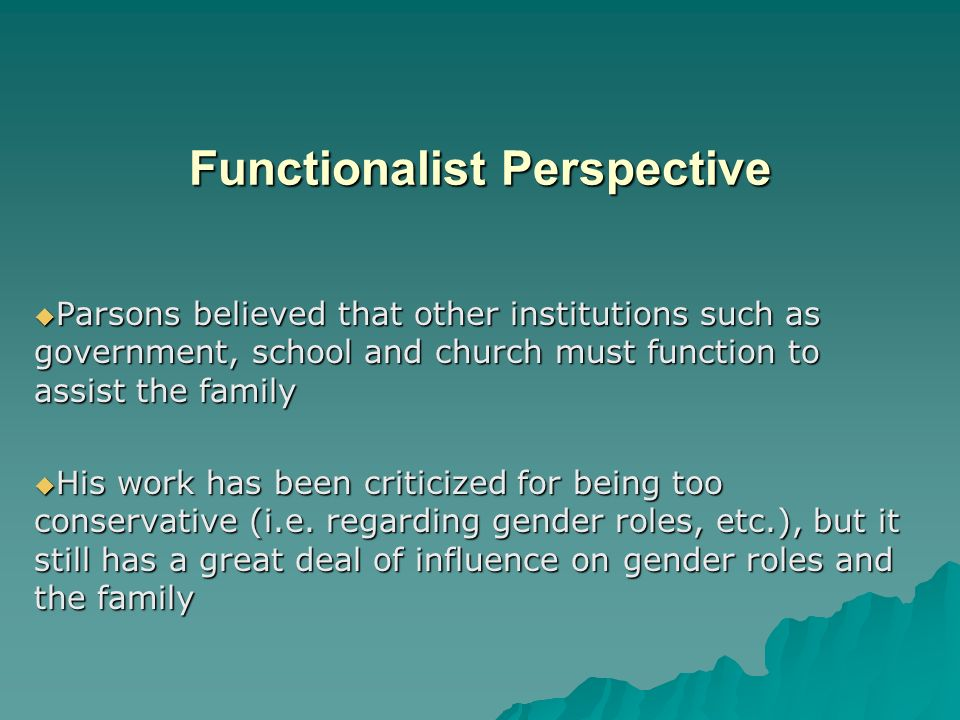 Structural Functionalist Theories of Gender Inequality Research Paper Starter