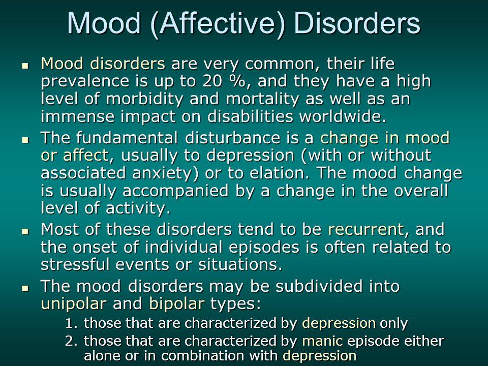 unipolar depression and bipolar disorder