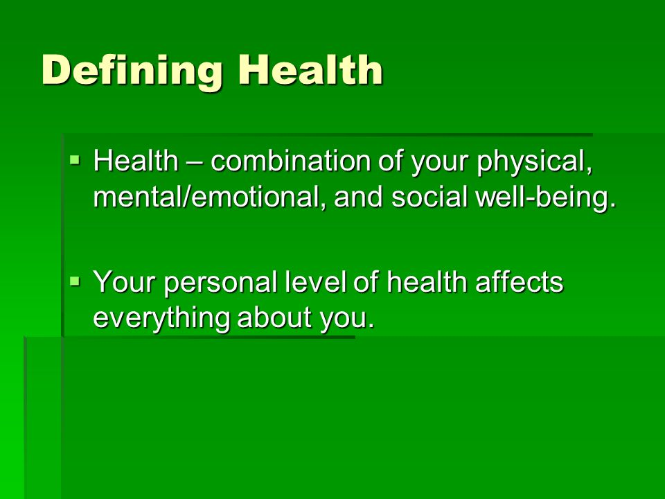What Is Health?. - ppt download