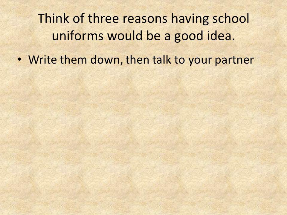 why are school uniforms a bad idea