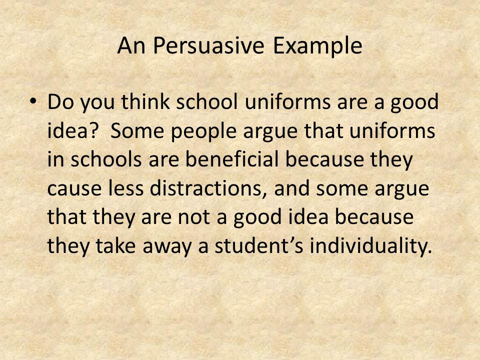 persuasive essays mandatory school uniforms Writing sample of essay on a given topic school uniform uniforms schools uniforms are becoming a common trend in the current school system students, teachers, and parents have varied feelings about the need for students to wear uniforms.