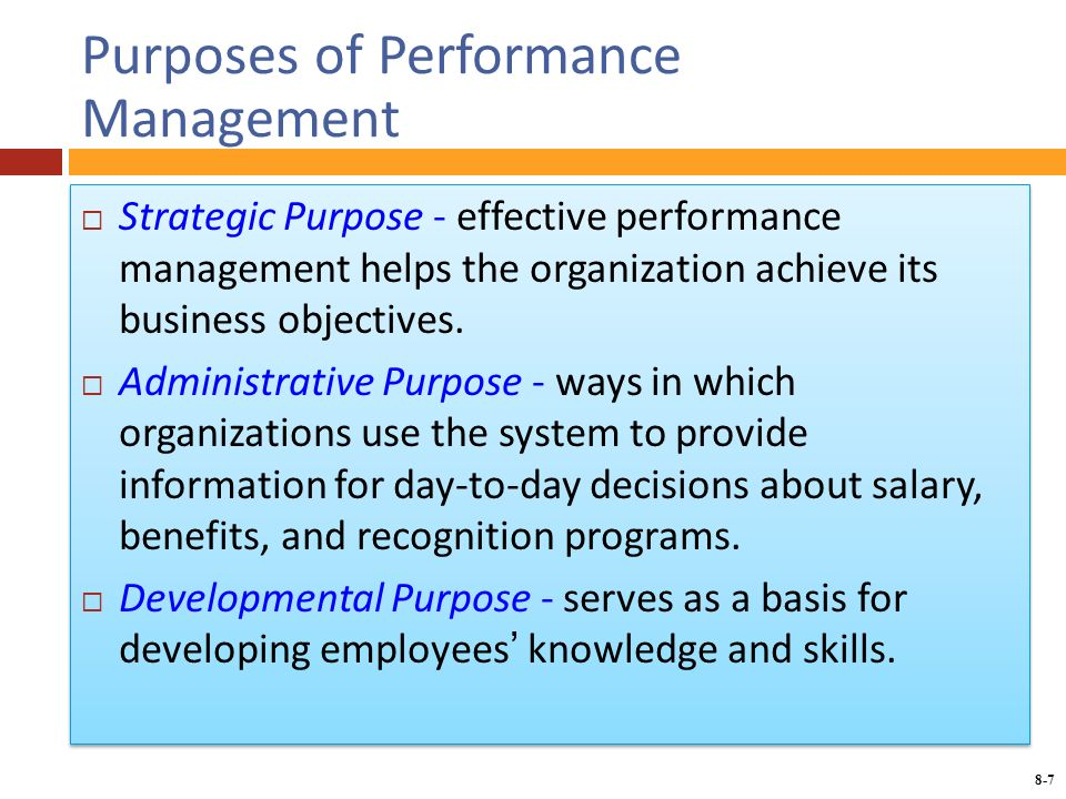 performance management and its relationship to business objectives