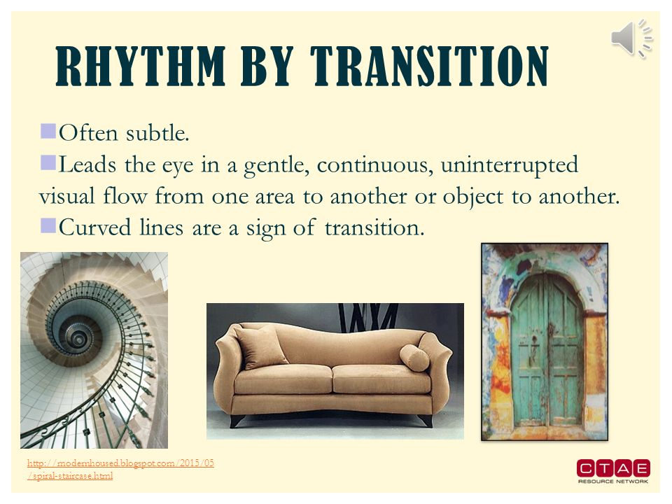 Unit 5 principles of design ppt download for Rhythm by transition
