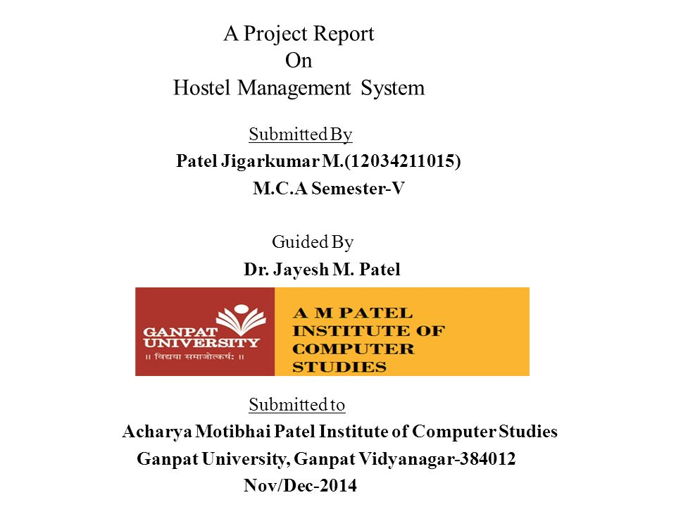 A project report on hostel management system ppt video online download a project report on hostel management system ccuart Gallery