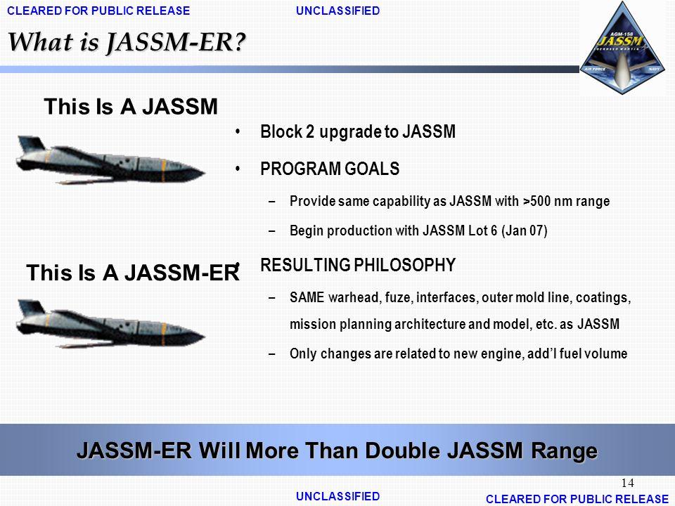 JASSM-ER Will More Than Double JASSM Range