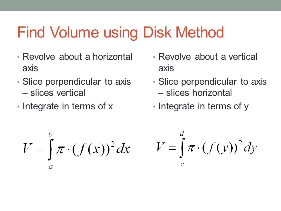 Solids of revolution disk method ppt video online download find volume using disk method ccuart Gallery