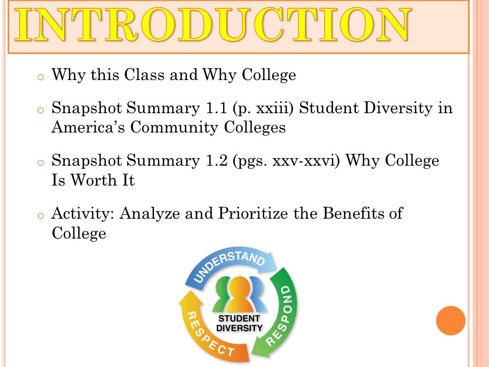 an introduction to the advantages of college Read e-book online college geometry: an introduction to the modern  scholars  the advantages of his a long time of educating experience.