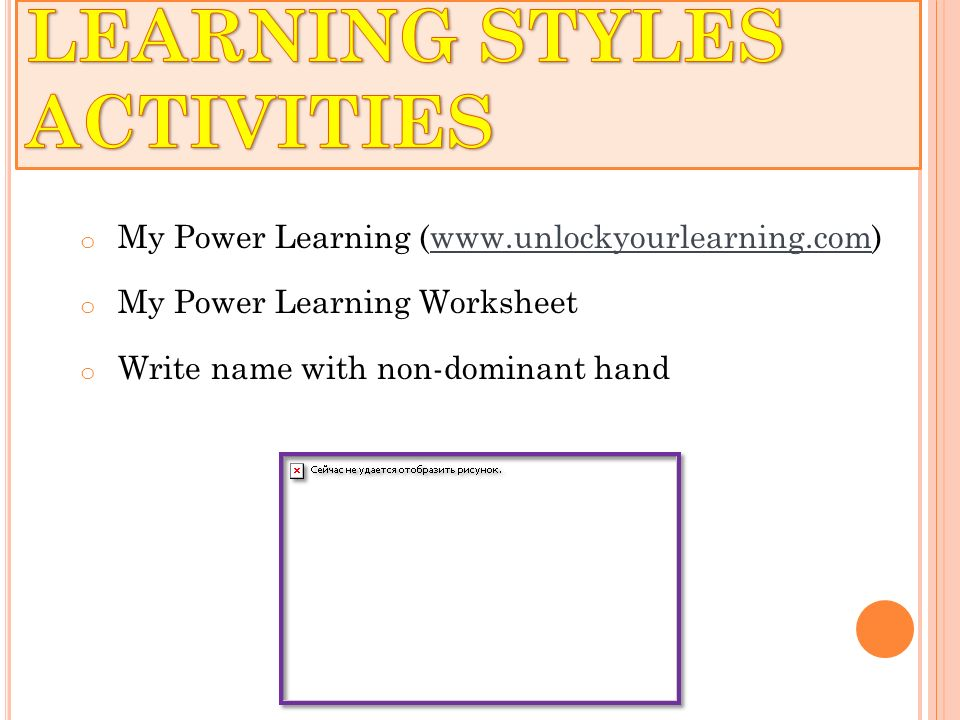 COMMUNITY COLLEGE INSTRUCTOR TRAINING ppt video online download – Learning Styles Worksheet