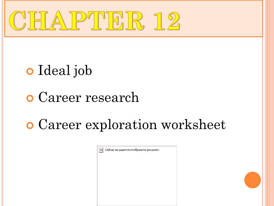 COMMUNITY COLLEGE INSTRUCTOR TRAINING ppt download – Career Exploration Worksheet