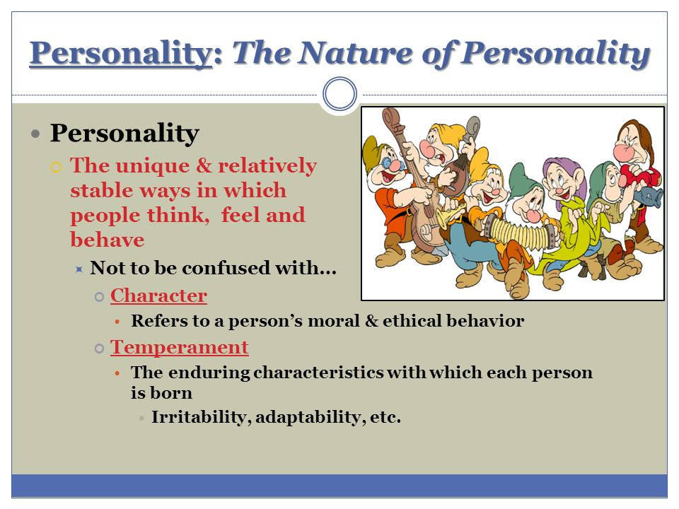 personality theory human nature In rogers' view of the personality theory, a person's identity is formed  rogers'  humanistic (and optimistic) view of human nature led him to.