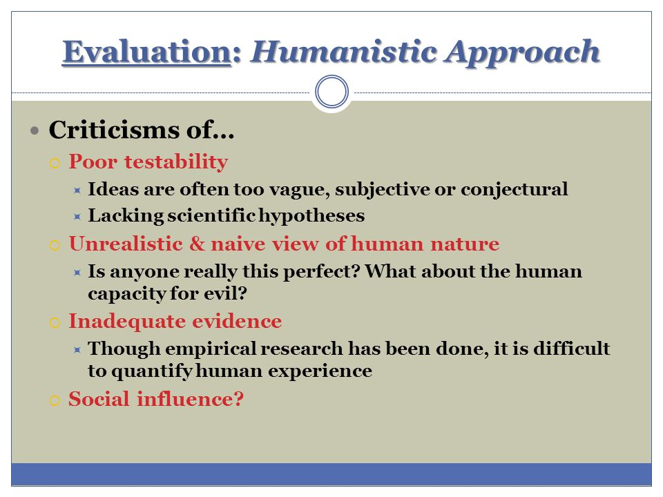 Approaches to Curriculum Evaluation Part I: Scientific vs Humanistic Approach