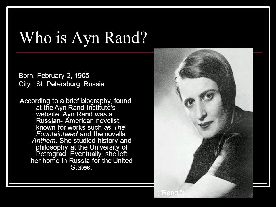 an introduction to the analysis of the philosophy by ayn rand John galt's speech consists of three main parts: a summary of rand's philosophy, followed by a critique of the culture, followed by a call to revolution.