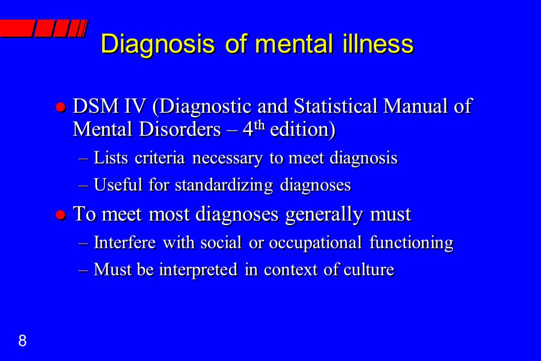 diagnostic and statistical manual of mental disorders 4th edition