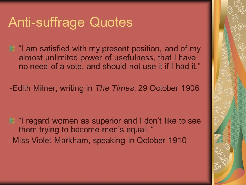 Women's Suffrage Quotes Cool Thinking Skill Explicitly Assess Information And Draw Conclusions
