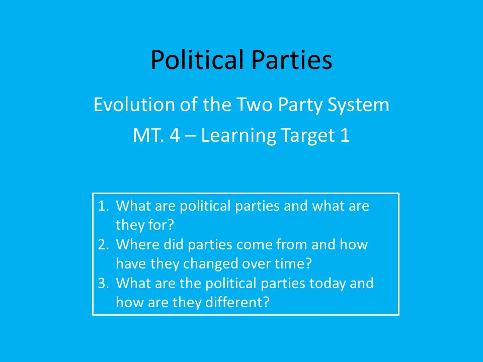 political parties history and evolution Timeline us political parties for kids history timeline us political parties facts and dates about the federalsts, democratic republicans and the whigs in the timeline us political parties for kids, children, homework and schools.