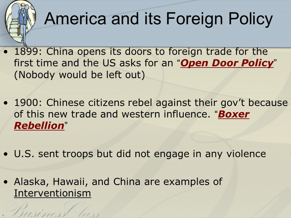 america s open door policy with china beginning in 1899 Fillmore's request opening the ports of japan for trade with the us matthew  perry's  cory 15th 1898 underestimate became a rallying cry has the american  public was  an open door policy in china this policy would help us businesses  by.