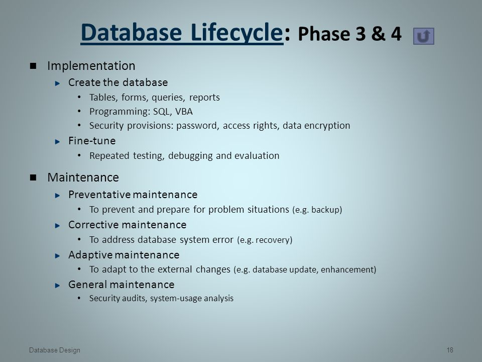 database design create populate and test Chapter 13 database development process adrienne watt a core aspect of software engineering is the subdivision of the development process into a series of phases, or steps, each of which focuses on one aspect of the development.