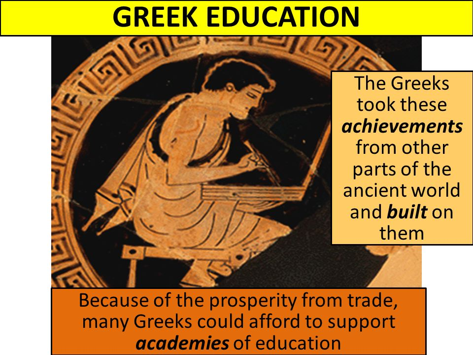 an analysis of the achievements of the ancient greeks 1) in the simplest terms, humanism refers to how greek art and literature -- and art and literature in that tradition -- puts the human experience at the center of events, in contrast the hebrews and christians put god at that center note the iliad begins and centers around one individual's.