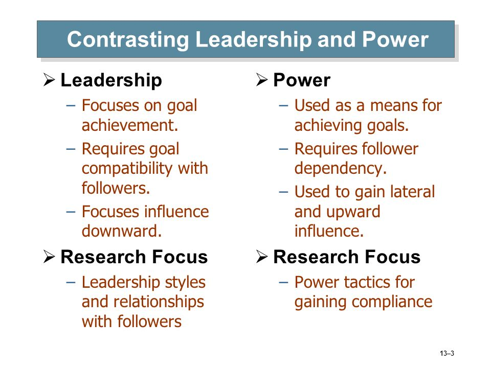 leadership and power relationship communication