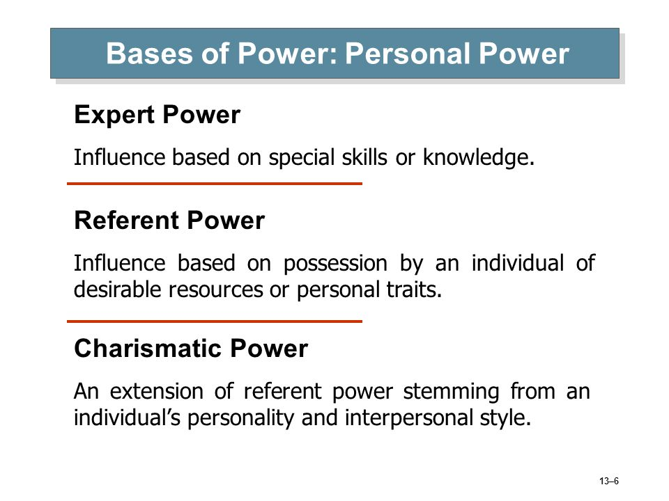 bases of power Nitions of the concept of power are likely to be useful in theoretical systems with a  the possible bases of power a study of the.