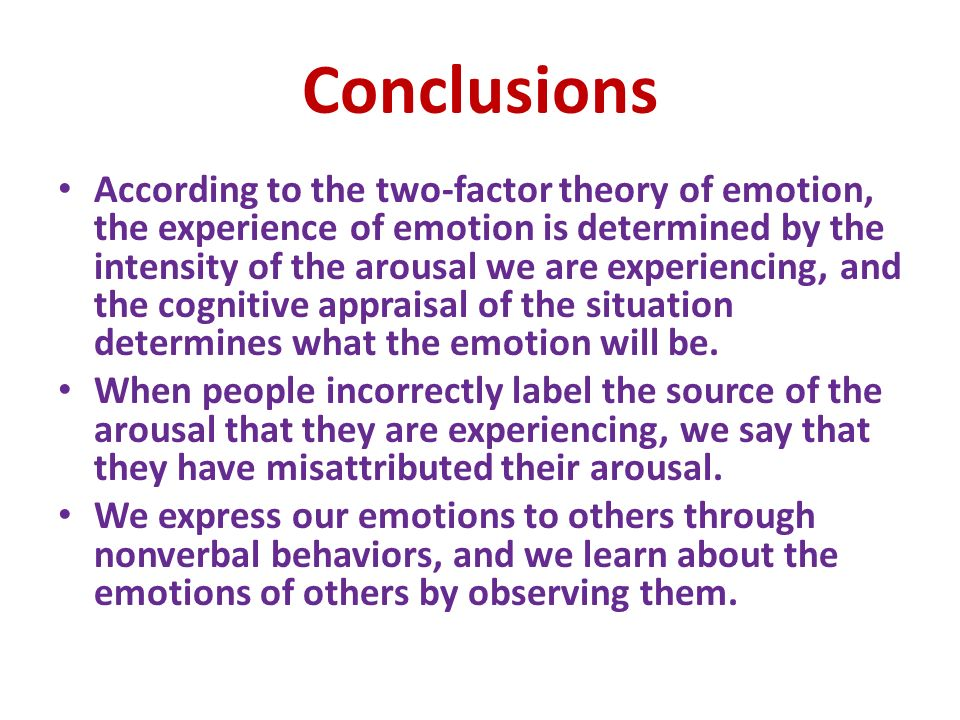 the conservation of emotion hypothesis Cognitive mediational theory of emotion a theory that feelings are caused by from psychology 111 at emory.
