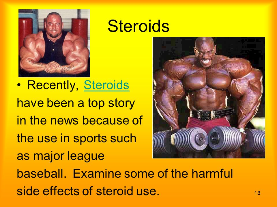 the effects of steroids and their use in sports This is because there is no safe way of 'monitoring' the use of steroids also, long-term effects of using anabolic steroids are unknown in competitive sport.