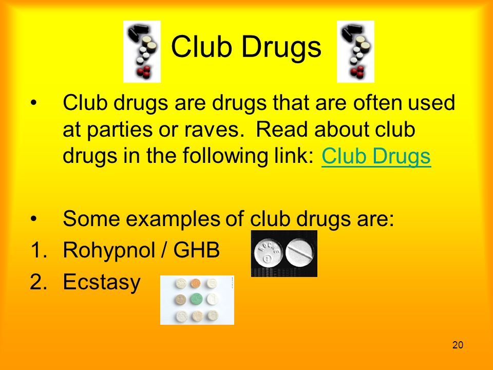 danger of raves and club drugs Other dangerous drugs club drug is a general term for illicit synthetic drugs such as mdma and ghb (gamma-hydroxybutyrate) that have become popular with teenagers and young adults that frequent nightclubs and raves.