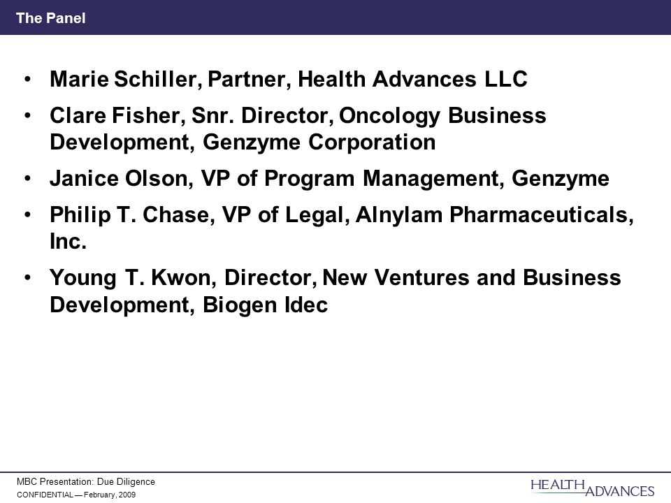 Marie Schiller, Partner, Health Advances LLC - ppt video online download