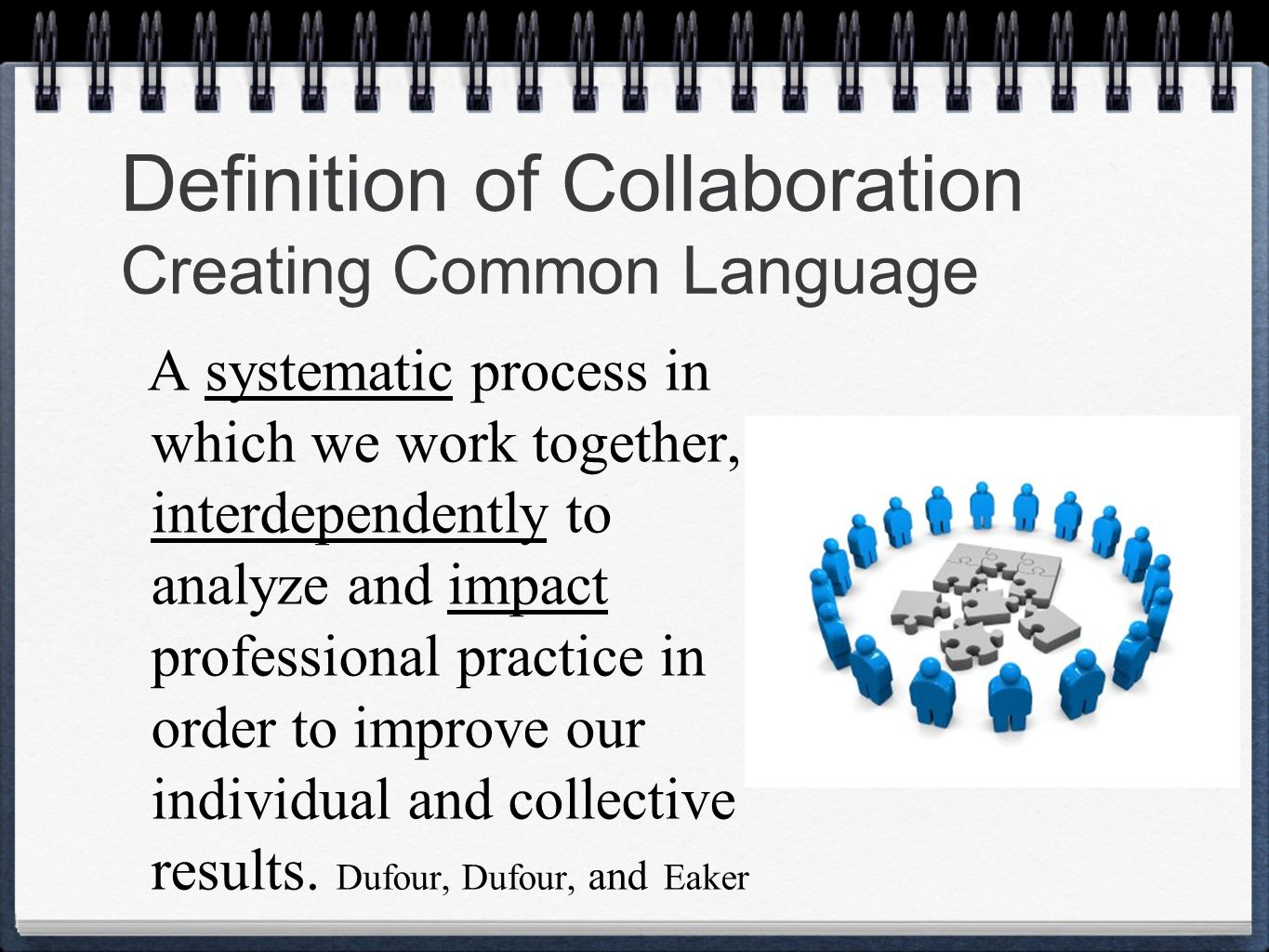 Collaborative Teaching Define : Professional learning community ppt video online download