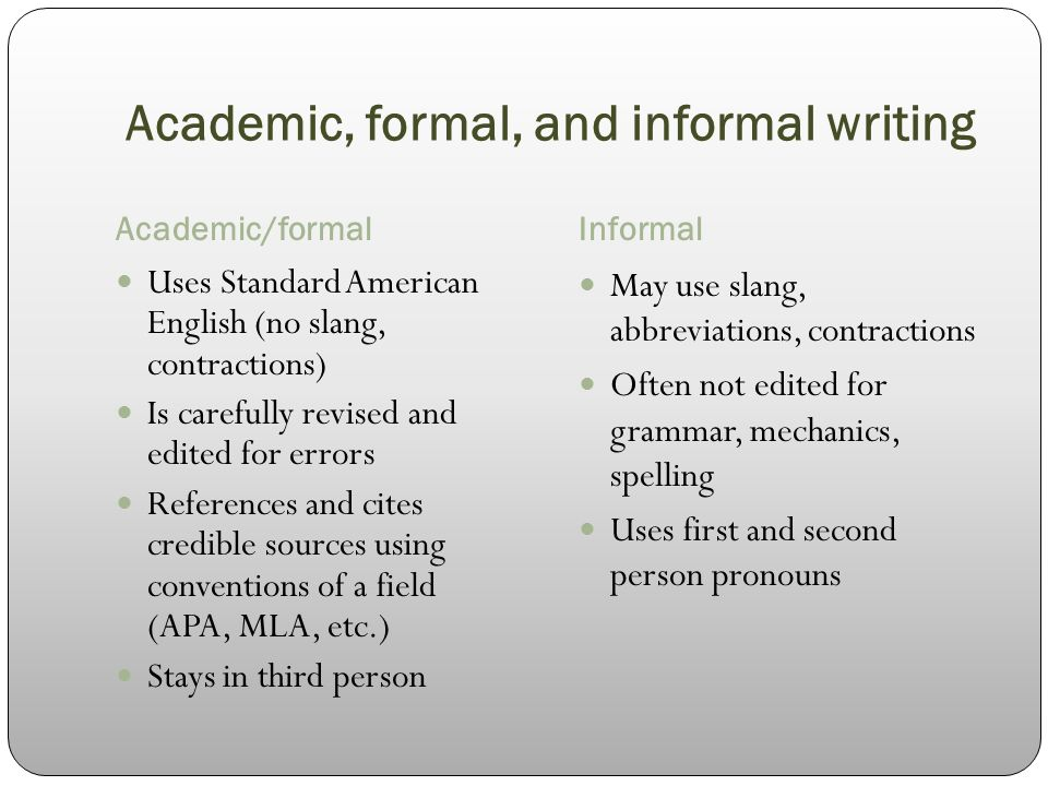 using the first person in academic writing