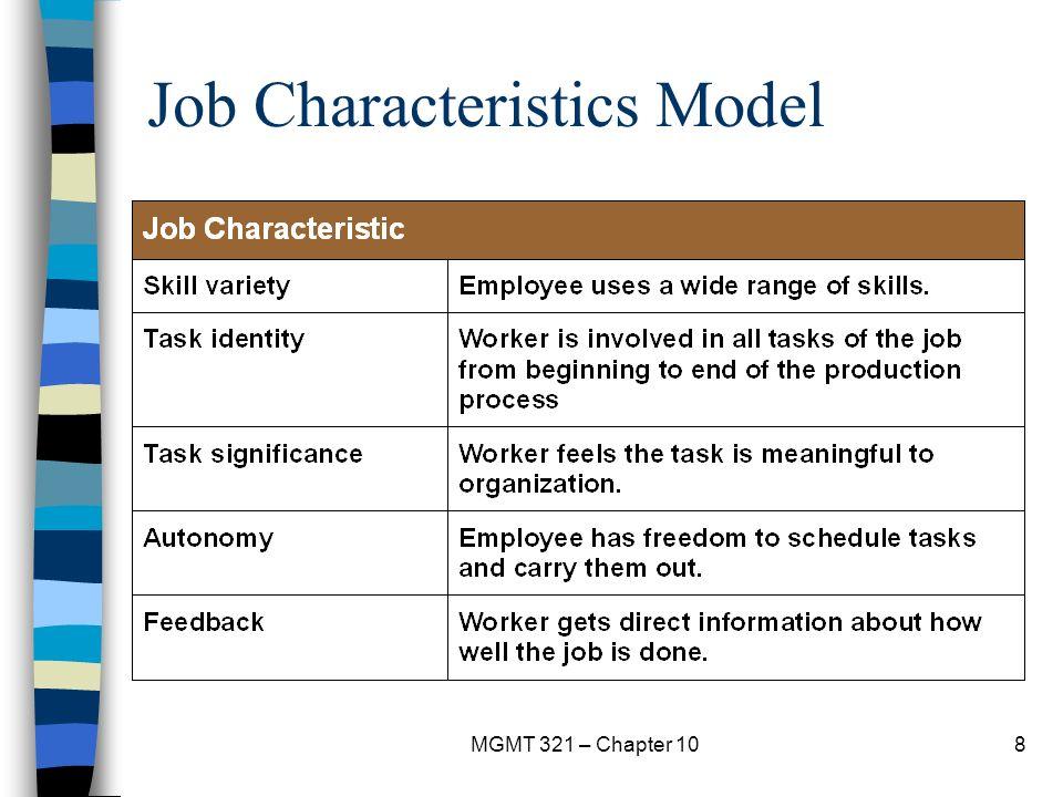 job characteristics model google An exploratory test of the job characteristics model on the emotional burnout of prison staff google scholar abstract: brief a, munro j, aldag r (1976.
