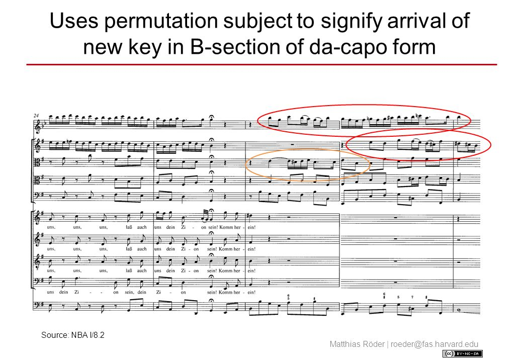 Uses permutation subject to signify arrival of new key in B-section of da-capo form