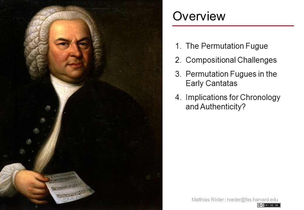 Overview The Permutation Fugue Compositional Challenges