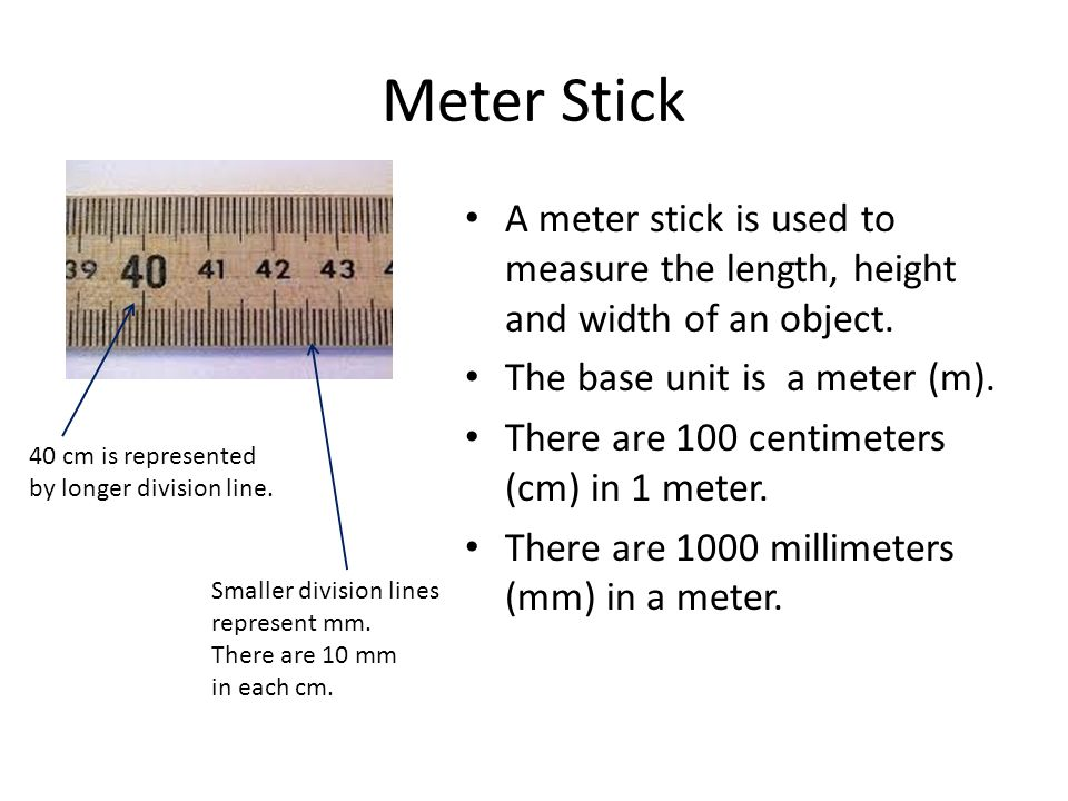 Double pan balance beaker graduated cylinders meter stick for Millimeters to meters