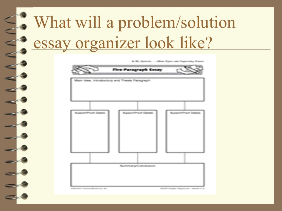 Problem and solution essay topic