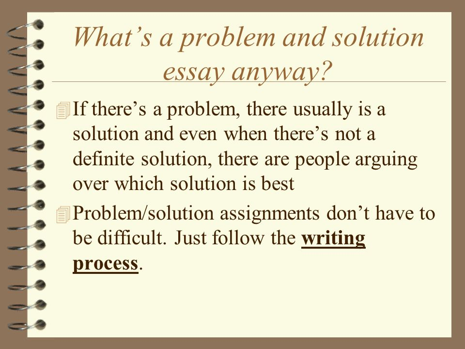 Write problem solution essay