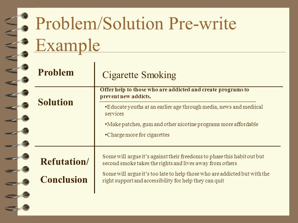 problem solving essay example cigarette smoke Adding taxes on cigarettes decreases smoking, so put a tax on unhealthy snack foods  i have to write a problem solution essay, and i am conflicted on what the topic should be do you.