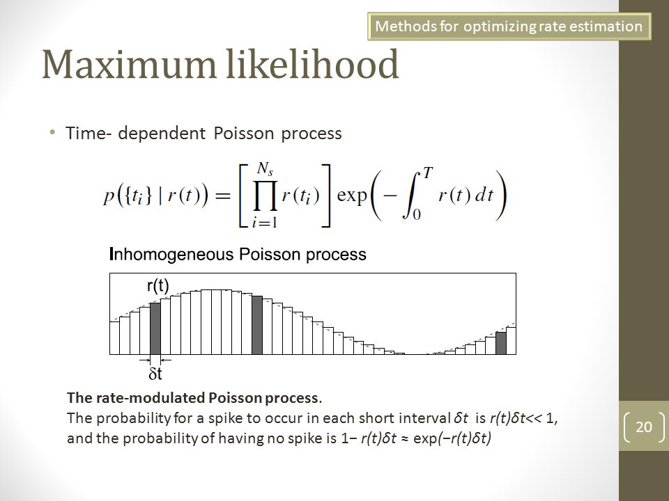 maximum likelihood programming in r To do maximum likelihood estimation, we therefore only need to use an optimization function to maximize this function a quick examination of the likelihood function as a function of p makes it clear that any decent optimization algorithm should be able to find the maximum:.