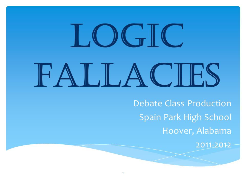 classifying logical fallacies