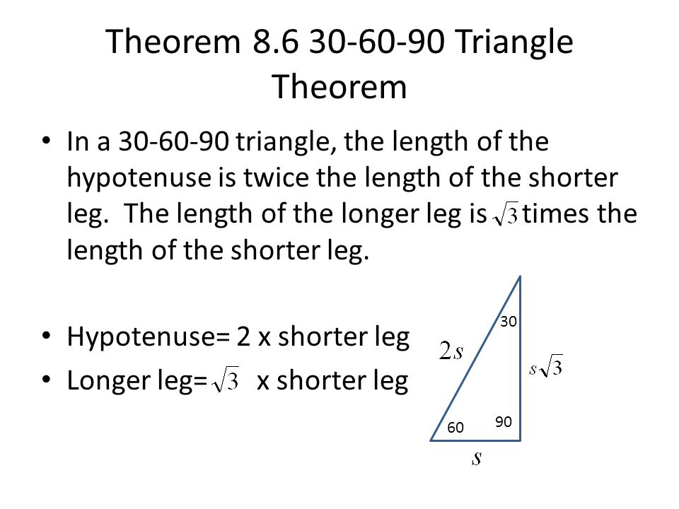 30 60 90 Triangle Notes. 8 2 Special Right Triangles Ppt Video Online Download Rh Slideplayer. Worksheet. Special Right Triangles Worksheet Answers Page 26 At Clickcart.co