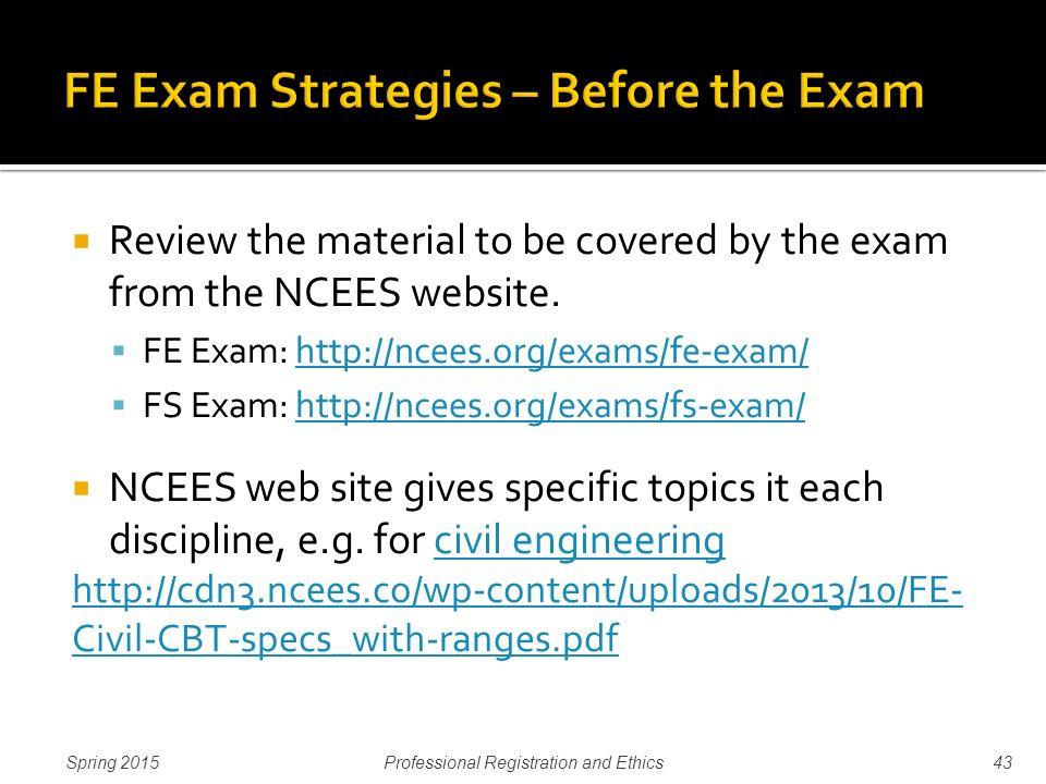 fe exams