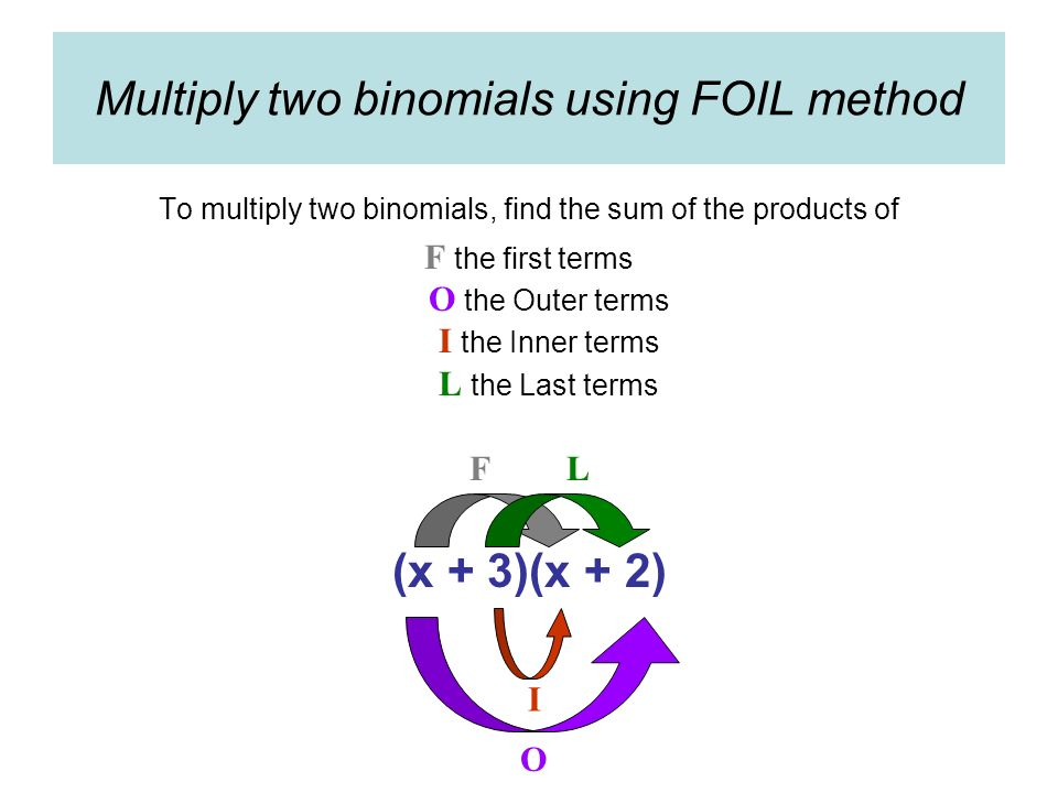 how to find the product of three binomials