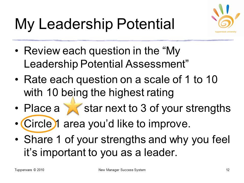 my leadership potential essay