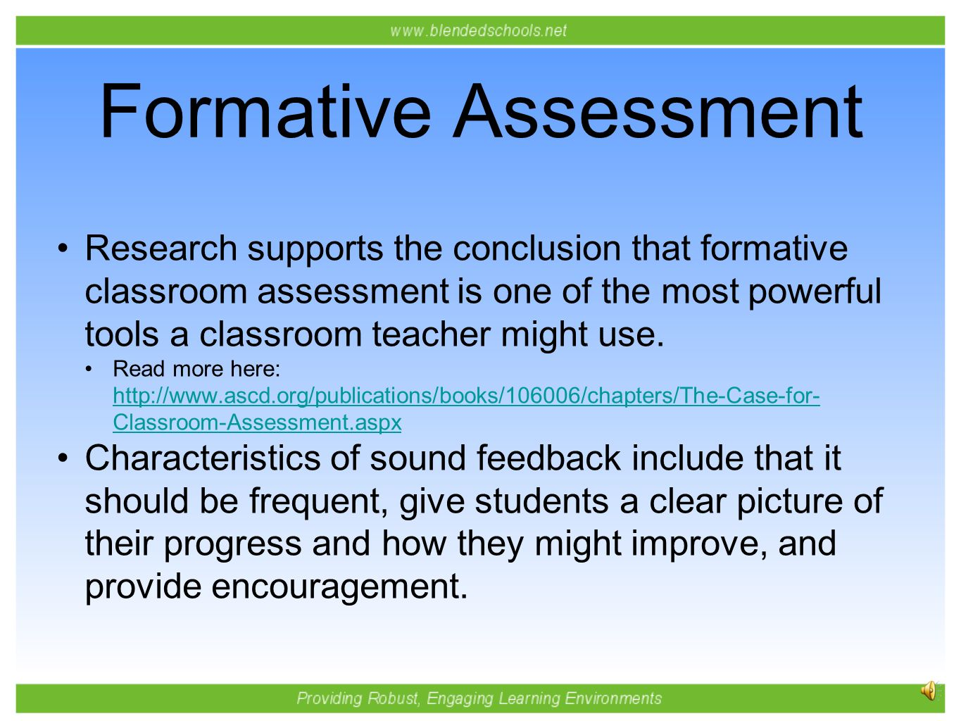 assessment choices in the classroom essay Formative assessment that truly informs instruction tomlinson outlines the progression of her thinking about classroom assessment in explaining each.