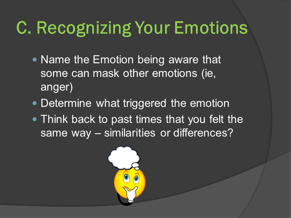 C. Recognizing Your Emotions