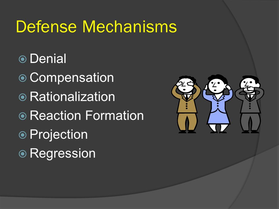 Defense Mechanisms Denial Compensation Rationalization